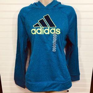 Adidas Blue Ultimate Logo ClimaWarm Hoodie NWT